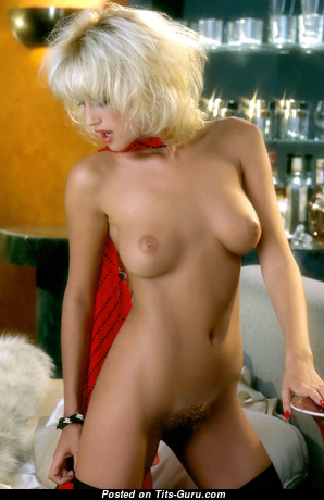Donna Smith - Elegant Topless American Playboy Blonde with Elegant Open Real Tittys (Vintage Porn Photoshoot)