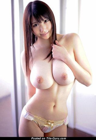 Sexy naked asian brunette with big natural tittes picture