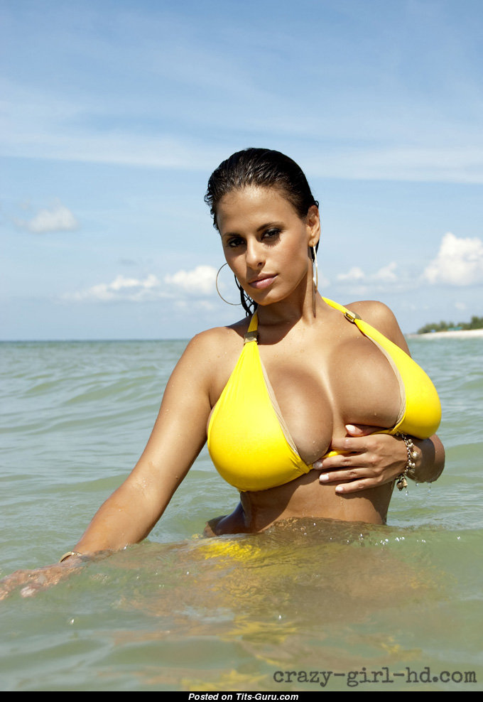 Wendy Fiore - Wet Latina Playboy Babe with Naked Big Busts