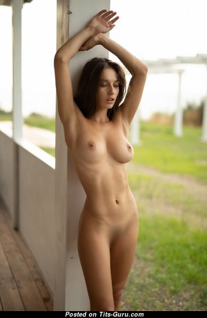 Fine Topless & Glamour Brunette with Puffy Nipples (Hd Porn Pix)