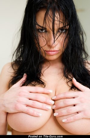 Image. Aksana Shyker - nude brunette with big natural tots pic