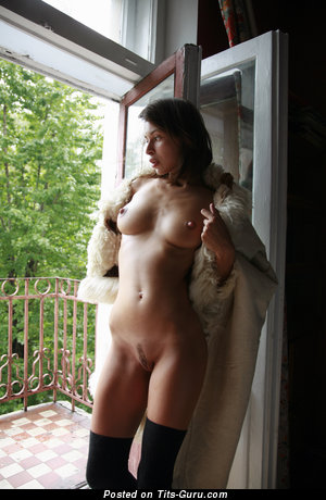 Image. Wonderful girl with medium natural breast picture