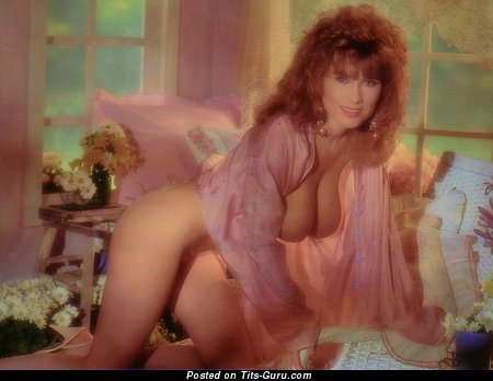 Sarka Lukesova - Marvelous Topless Playboy Red Hair Babe with Marvelous Open Natural Mid Size Tittes (Vintage Porn Image)