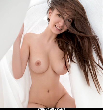 Magnificent Topless & Glamour Asian Brunette with Giant Nipples (Sex Image)