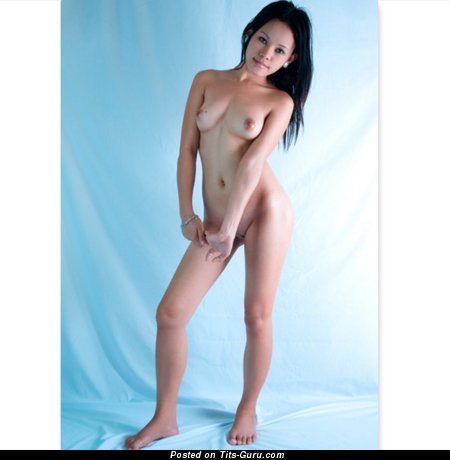 Aileen - Fascinating Topless Brunette Babe with Fascinating Naked Natural Miniature Tittys (Hd 18+ Photoshoot)
