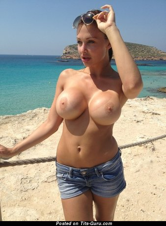 Image. Beautiful girl with big fake boobies picture