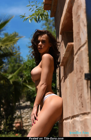 Image. Jennifer Ann - nude brunette with big boobs and piercing pic