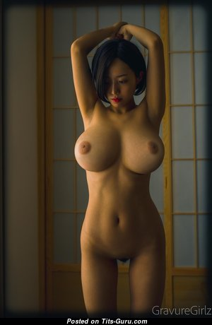 Tinami - Fascinating Asian Brunette Girlfriend with Fascinating Naked Natural Medium Sized Titties (Hd 18+ Pix)