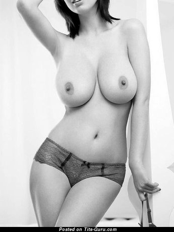 Image. Beautiful lady with natural breast photo