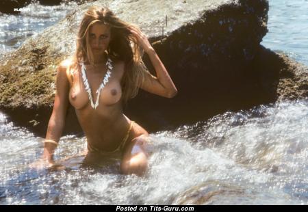 Kymberly Herrin - Pleasing American Playboy Blonde with Pleasing Open Medium Sized Tittes on the Beach (Porn Photoshoot)