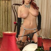 Bettie Ballhaus - red hair with big natural tots pic