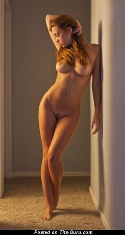 Nude hot woman with medium breast photo