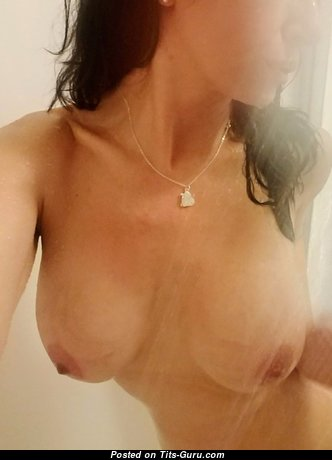 My Wife - The Best Wife with The Best Bare Natural Normal Chest in the Shower (18+ Photo)