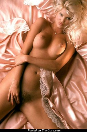 Image. Victoria Silvstedt - sexy topless blonde with big boob and big nipples vintage