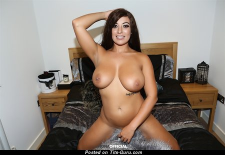Fiona Siciliano - Charming Brazilian, British Brunette Babe with Charming Bare Real Sizable Titty & Piercing (Hd Sexual Photoshoot)