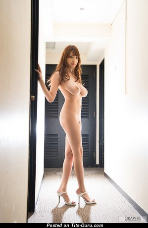 Shion Utsunomiya: topless asian brunette with big natural boobies & big nipples picture