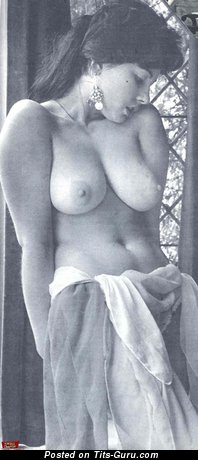 Topless brunette vintage