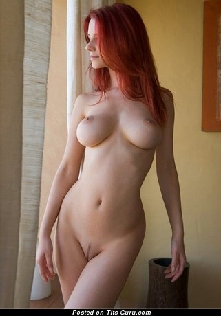 Wutser Name - Lovely Red Hair Babe & Pornstar with Lovely Bare Natural Firm Melons (Xxx Photoshoot)