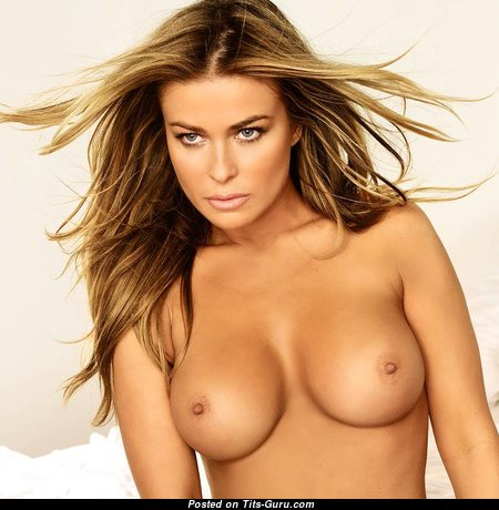 Carmen Electra - Handsome Topless American Blonde Babe & Actress with Handsome Exposed Mid Size Titty (Sexual Pic)