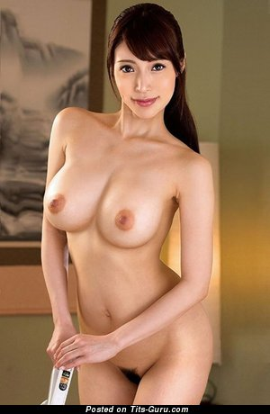 Aya Sa - Elegant Topless Asian Brunette Babe with Elegant Defenseless Real Soft Chest (Hd Xxx Picture)