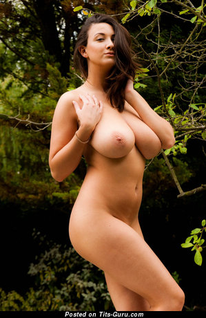 Image. Beautiful woman with big natural boobs photo