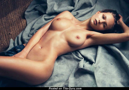 Image. Karolina Szymczak - nude brunette with big natural tittes photo
