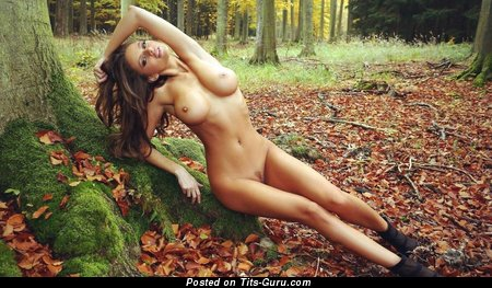 Graceful Topless Babe with Graceful Bald Normal Busts (on Public Hd Sexual Pic)