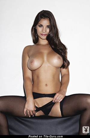 Anna Andelise - sexy naked brunette with big natural tits image