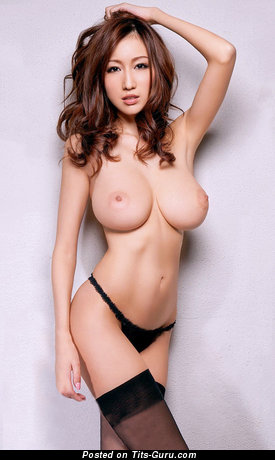 Julia Boin - Dazzling Japanese Brunette Babe with Awesome Bald Natural D Size Melons (Hd 18+ Picture)