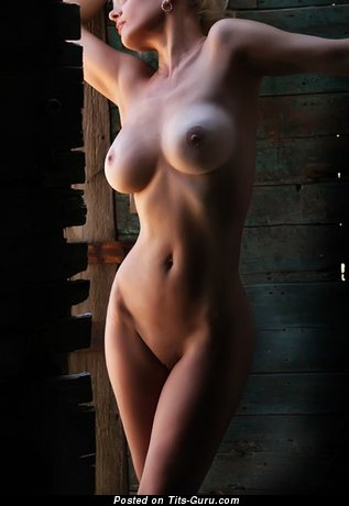 Image. Naked blonde with big tits pic