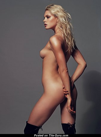 Image. Naked blonde with small natural boobs image