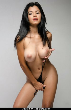 Image. Lea - nude latina brunette with big natural tittes photo