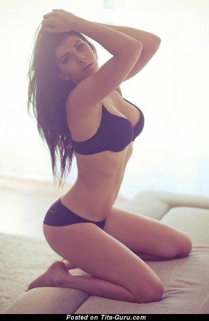 Nude wonderful female with medium natural breast image