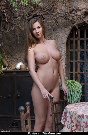 Conny Carter - Yummy Topless Czech Babe with Yummy Bald Natural Medium Tots (Hd 18+ Photo)