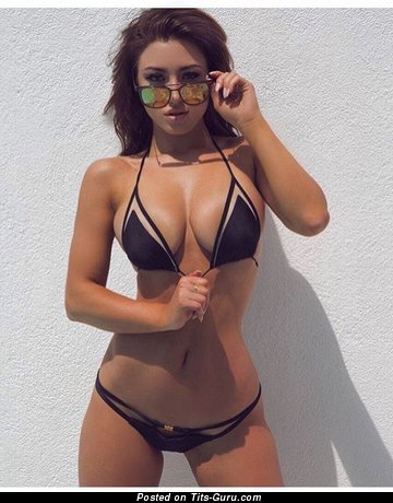 Image. Sexy amateur beautiful female with big fake tots picture