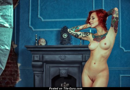 Jane Sinner - Marvelous Russian Dish with Marvelous Open Natural Narrow Tits, Piercing & Tattoo (Hd Porn Photoshoot)