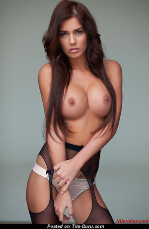 Alexa Varga - Exquisite Brunette with Delightful Exposed Silicone Great Hooters (Hd Xxx Picture)