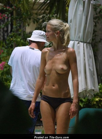 Claudia Schiffer - Cute German Blonde with Cute Bare Natural Melons (Hd 18+ Image)