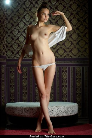 Image. Naked beautiful female with small natural boobies photo