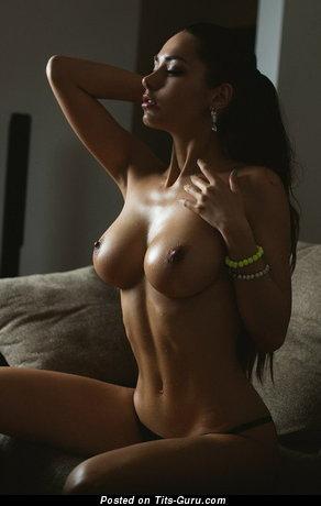Helga Lovekaty - Wonderful Topless Russian Brunette Babe & Pornstar with Wonderful Nude Ddd Size Hooters & Enormous Nipples (Sex Foto)