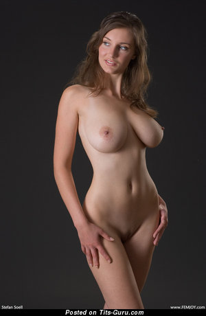 Image. Ashley Spring - sexy topless hot woman with medium natural tittys picture