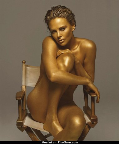 Charlize Theron - Graceful Red Hair Babe & Actress with Graceful Naked Natural Chest (Hd Xxx Image)