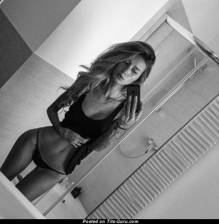 Jenah Yamamoto - nude nice woman with medium fake tittes and tattoo photo