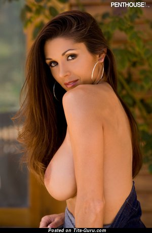 Image. Taya Parker - nude brunette with big fake tittes and big nipples pic