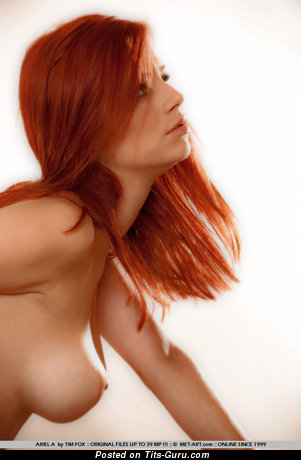 Ariel Piper Fawn - naked red hair with medium natural boobies photo