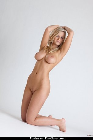 Image. Miela A - naked blonde with big tittys image
