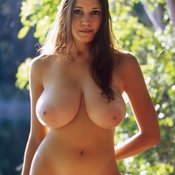 Awesome female with big natural boob image