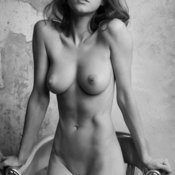 Sexy naked amazing girl with medium natural boobs image
