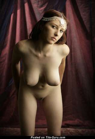 Image. Sarah - brunette with big natural tits and big nipples photo