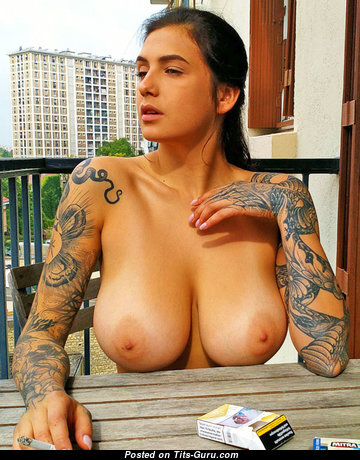 Evgenia Talanina - Graceful Russian Brunette Babe with Graceful Exposed Real Chest & Tattoo (Hd Xxx Wallpaper)